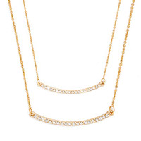 Delicate Pave Crystal Necklace