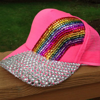 DOUBLE RAINBOW Summer Trucker Hat
