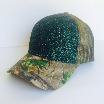 Real Tree Camouflage Glitter Hat
