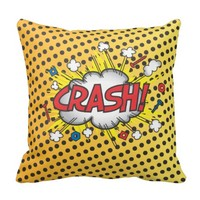 Comic Book Crash, Boom Pillow