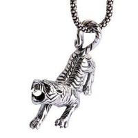 Fierce Tiger Thai Silver Pendant - Necklaces - Men's Jewelry - Fashion Jewelry