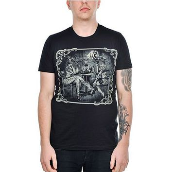 "Men's ""Strip Poker"" Tee by Too Fast Apparel (Black)"