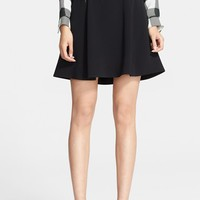 rag & bone 'Gayle' Leather Trim Flared Skirt