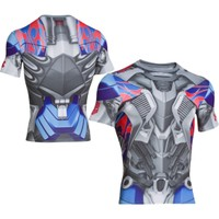 Under Armour Men's Alter Ego Transformers Optimus Prime Compression Short Sleeve Shirt