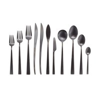 Duna by Cutipol Matte Black Flatware