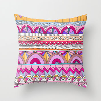 Tribal Lines #2 Throw Pillow by Ornaart