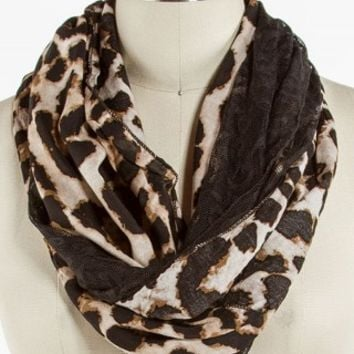 LEOPARD LACE ETERNITY SCARF