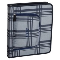 Gear-Up Grey Classic Plaid Homework Holder