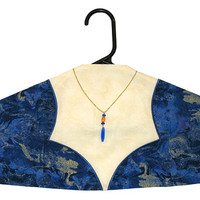 Garment Bag Hanger Cover - Gothic Neckline in Royal Blue