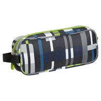 Gear-Up Blue Digi Plaid Pencil Case