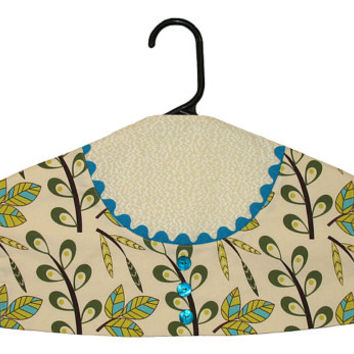 Garment Bag Hanger Cover - Apron with Turquoise Trim