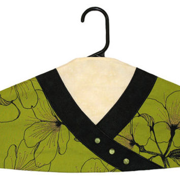 Garment Bag Hanger Cover - Asian Floral - Green