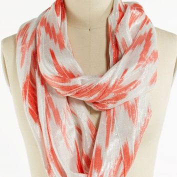CHEVRON LUREX ETERNITY SCARF
