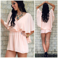 Love Wrapped Pink Romper