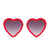 JEREMY SCOTT | Glitter Heart Sunglasses | Browns fashion & designer clothes & clothing
