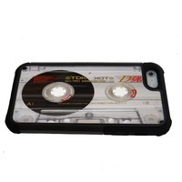 TDK Tape Cassette iPhone 5 case with extra protection- iPhone 5 cover, 2 piece rubber lining case