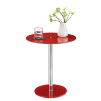 Altra Furniture Round Chrome Accent Table