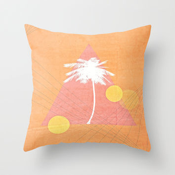 Sunset Blvd. Throw Pillow by DuckyB (Brandi)