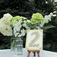 Wedding Table Number Tiny Art w/ Easel by joblake