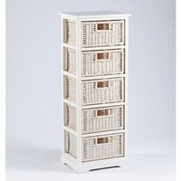 Kirkland's: White 5-Drawer Storage Unit