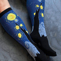 Socks   Socks  Sock It To Me Starry Night  Sock Dreams