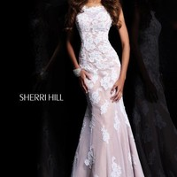 Sherri Hill Homecoming Dresses - Sherri Hill 21028 Mermaid Open Back