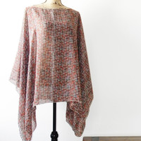 Chiffon Poncho/ Summer Caftan/ Tribal Poncho/ Summer Cover Up/ Oversized poncho/ Summer Poncho