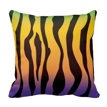 Colorful Zebra Print Pillows