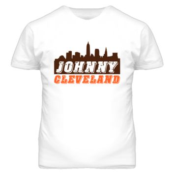 Vintage Johnny Cleveland Skyline Football T Shirt