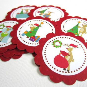 Rudolph the Reindeer Christmas Tags - Set of 12