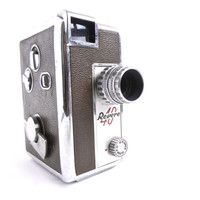 Vintage Revere 40 Movie Camera  Silver & Brown by MaejeanVINTAGE