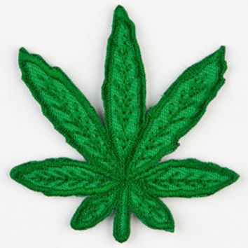 Pot Leaf Patch Green One Size For Men 24355150001