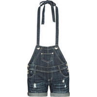ALMOST FAMOUS Womens Halter Denim Shortalls 193349827 | rompers & overalls | Tillys.com