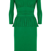 Alexander McQueen | Ruffled stretch-crepe dress | NET-A-PORTER.COM