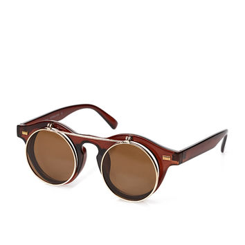 Round Flip-Up Sunglasses
