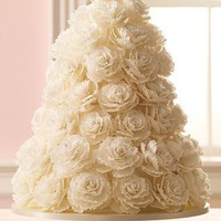 White Rose Wedding Cake - 50 Great Wedding Cakes - You&#x27;re Engaged! - MarthaStew