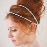 Double strand headband, VOLE MON AMOUR wedding, rhinestones, headband, bridal, wedding, bride, hair accessory, bridesmaid, hair bun
