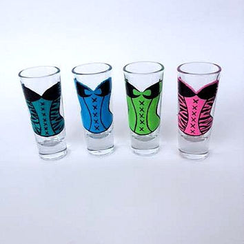 Corset shot glasses Bachelorette Girls Night Out Birthday Shot Glasses