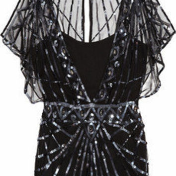 Temperley London | Web embellished tulle top | NET-A-PORTER.COM