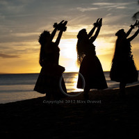 Hawaiian Art, Hawaii Art, Hawaii Print, Hula Girl Beach Luau Photography