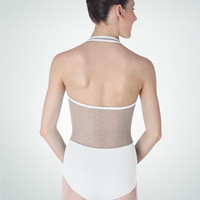 Body Wrappers: Lace Back Halter Leotard