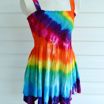 Tie Dye Tank Top, Tunic, Bohemian, Beach Cover, Maternity Shirt