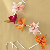 Garland - How to Make Crepe-Paper Flowers - DIY Weddings - MarthaStewartWedding