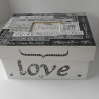 Memory box its written in black and white by TrulyUniqueBouquets