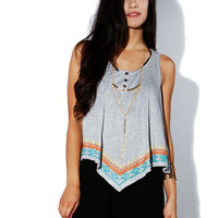 Papaya Clothing Online :: EDGE POINTED EMBROIDERED TOP