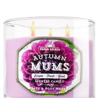 3-Wick Candle Autumn Mums