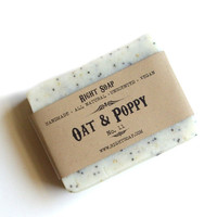 Oat and Poppy Scrub Soap Scrub Soap Vegan Soap by RightSoap