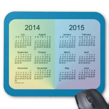 2014-2015 School Year Calendar by Janz Mouse Pad