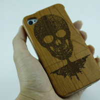 Personalized case iphone 5 case wood skull iphone 4s case iphone 5c cover cell phone case iphone 5s skull case iphone 4s skull case 5c cover