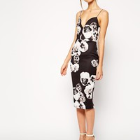 ASOS Pansy Print Pencil Dress